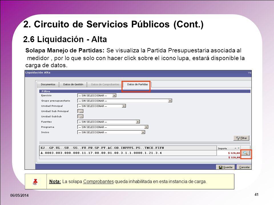 2. Circuito de Servicios Públicos (Cont.)