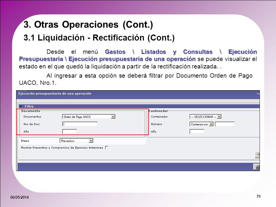 3. Otras Operaciones (Cont.)