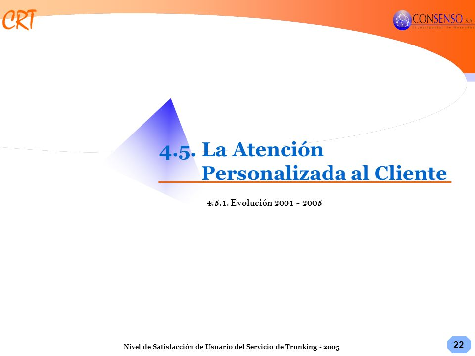 4.5. La Atención Personalizada al Cliente