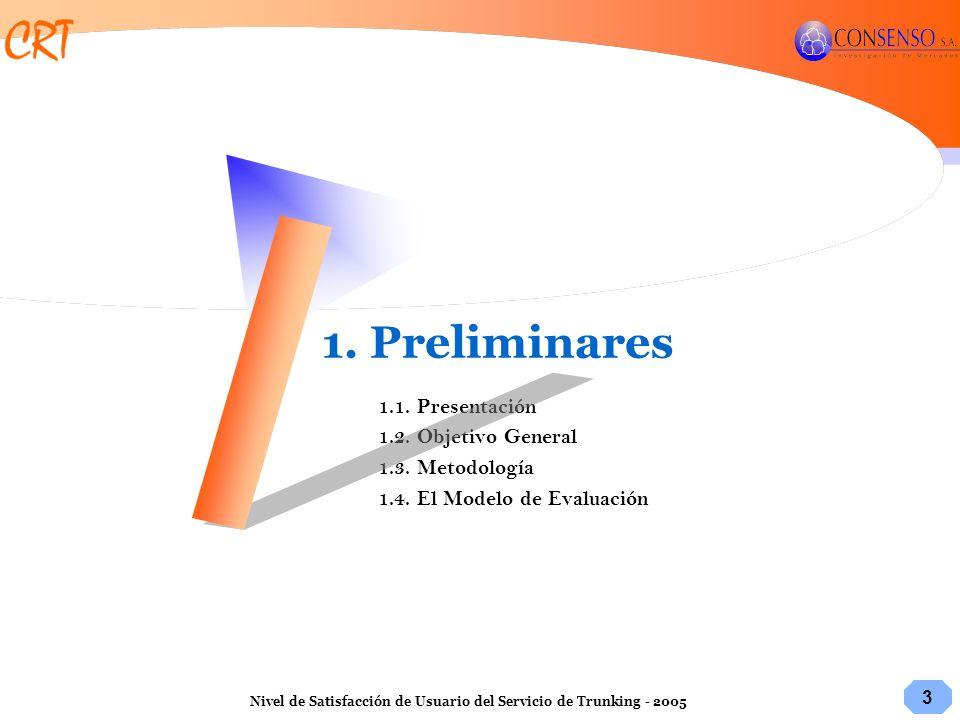 1. Preliminares 1.1. Presentación 1.2. Objetivo General