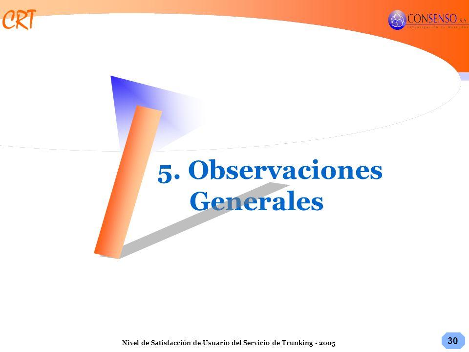 5. Observaciones Generales