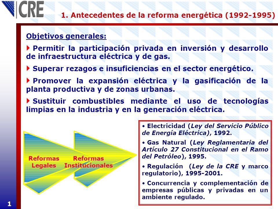 1. Antecedentes de la reforma energética (1992-1995)