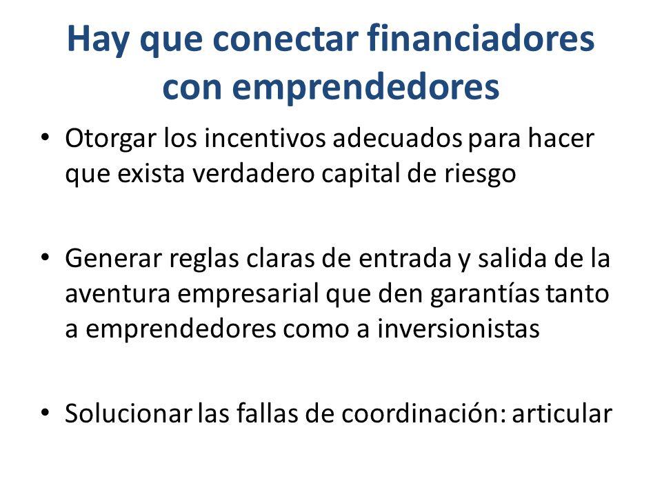 Hay que conectar financiadores con emprendedores