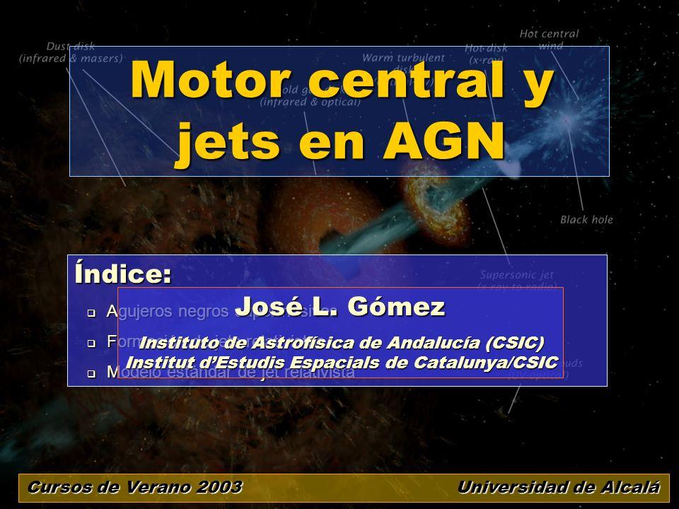 Motor central y jets en AGN