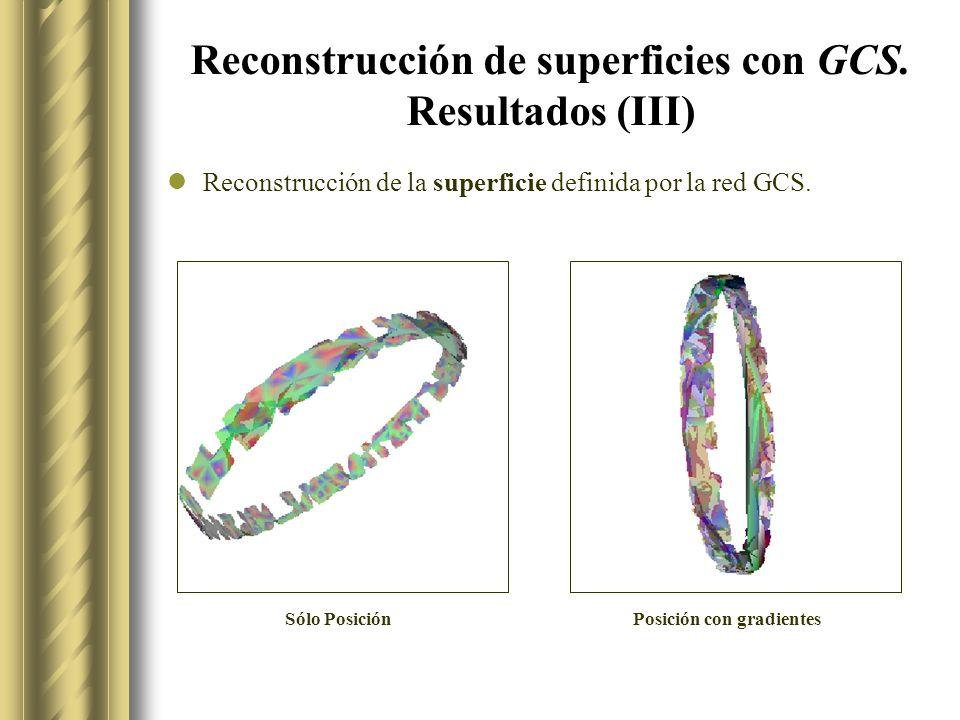 Reconstrucción de superficies con GCS. Resultados (III)