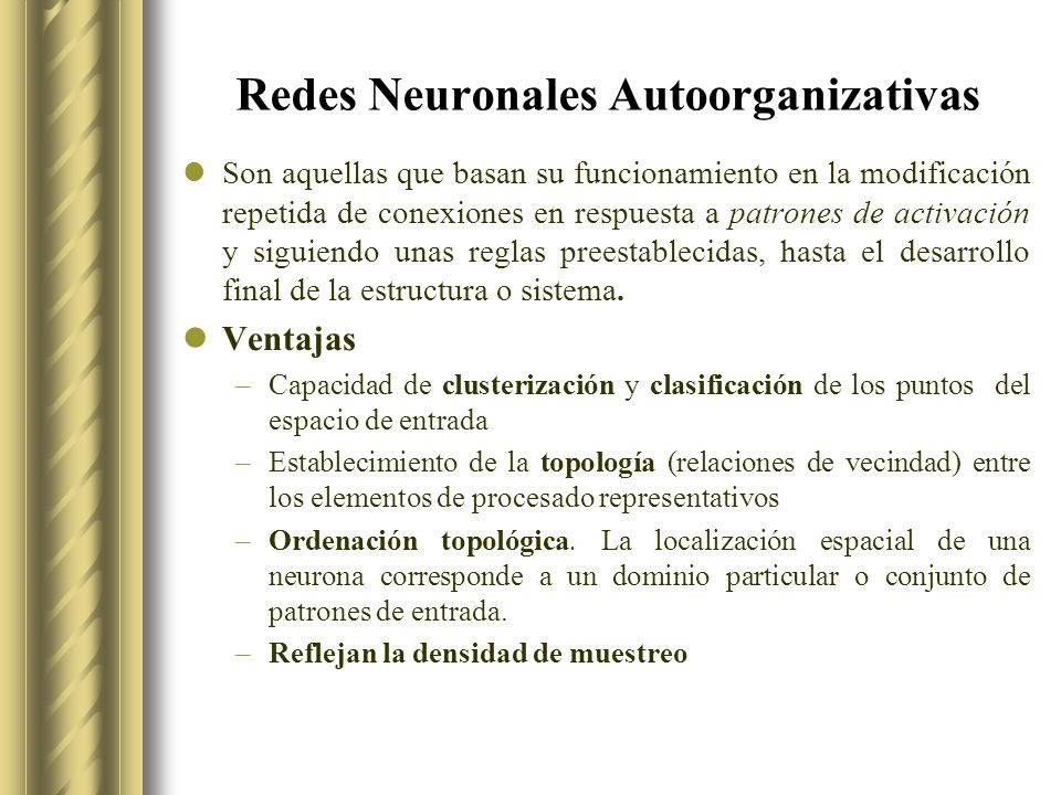 Redes Neuronales Autoorganizativas