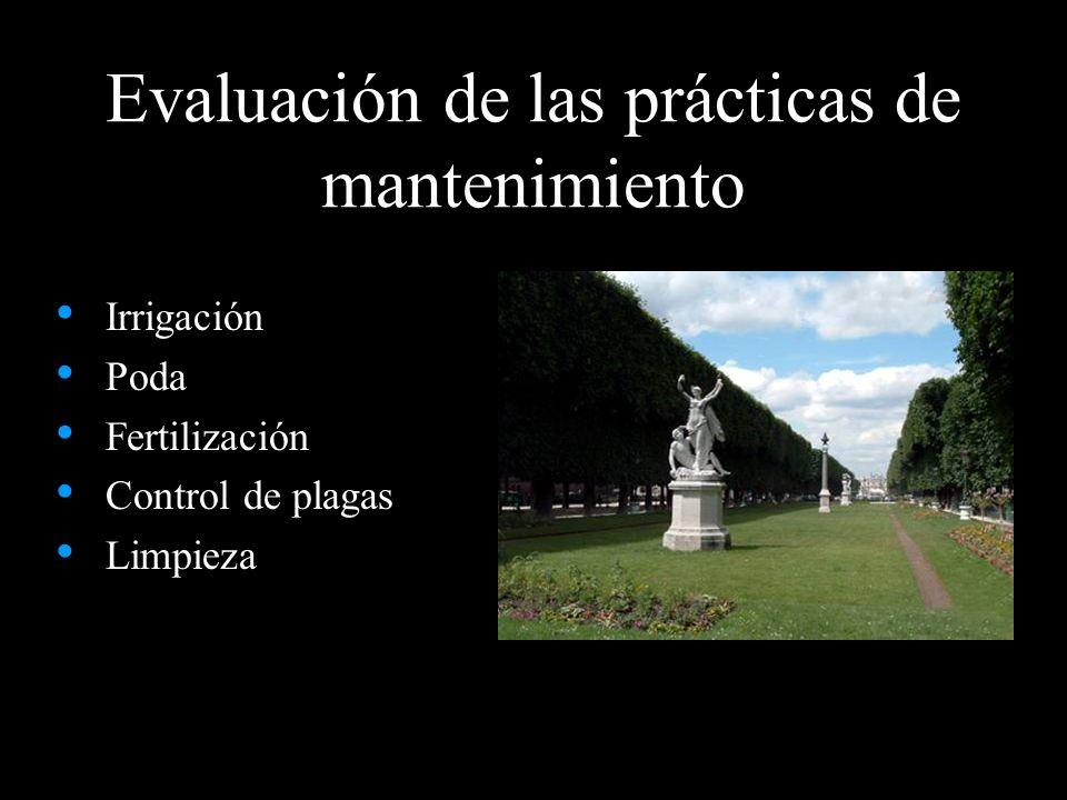 Evaluación de las prácticas de mantenimiento