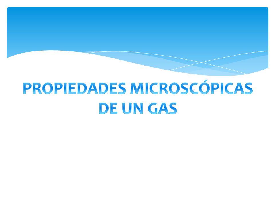 PROPIEDADES MICROSCÓPICAS DE UN GAS