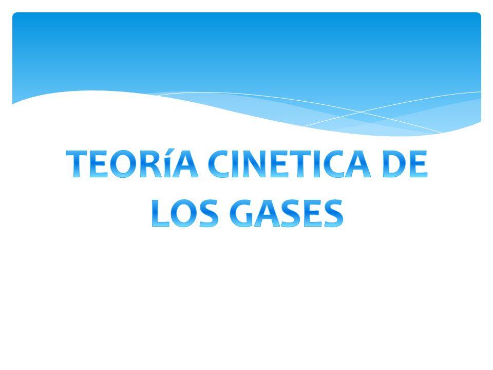 TEORíA CINETICA DE LOS GASES