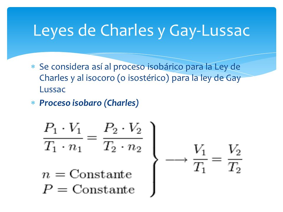 Leyes de Charles y Gay-Lussac