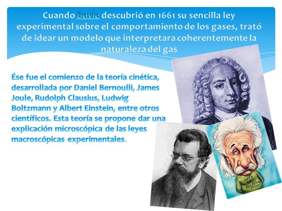 Cuando Boyle descubrió en 1661 su sencilla ley experimental sobre el comportamiento de los gases, trató de idear un modelo que interpretara coherentemente la naturaleza del gas