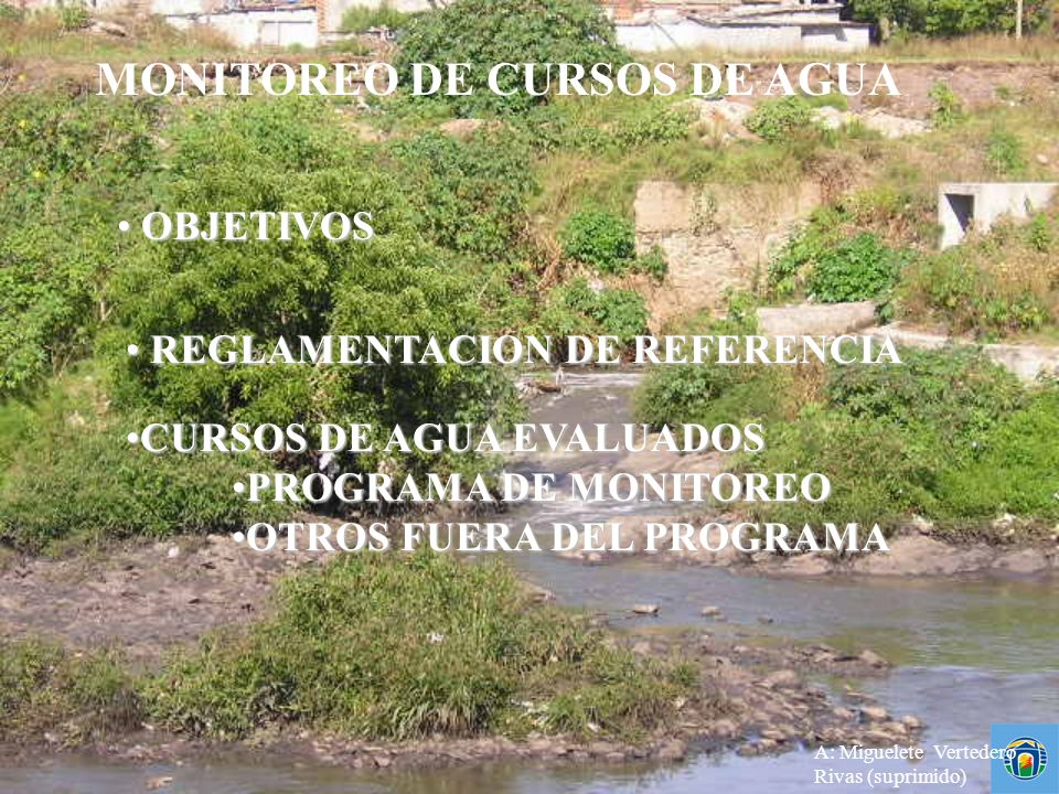 MONITOREO DE CURSOS DE AGUA