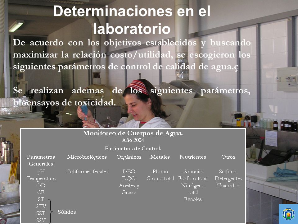 Determinaciones en el laboratorio