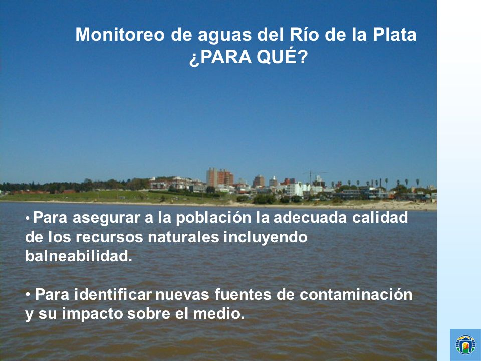 Monitoreo de aguas del Río de la Plata