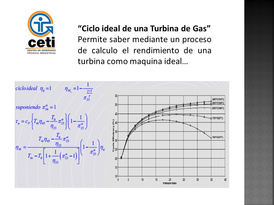 Ciclo ideal de una Turbina de Gas