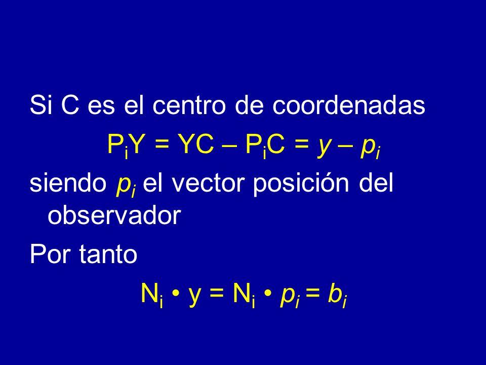 Si C es el centro de coordenadas