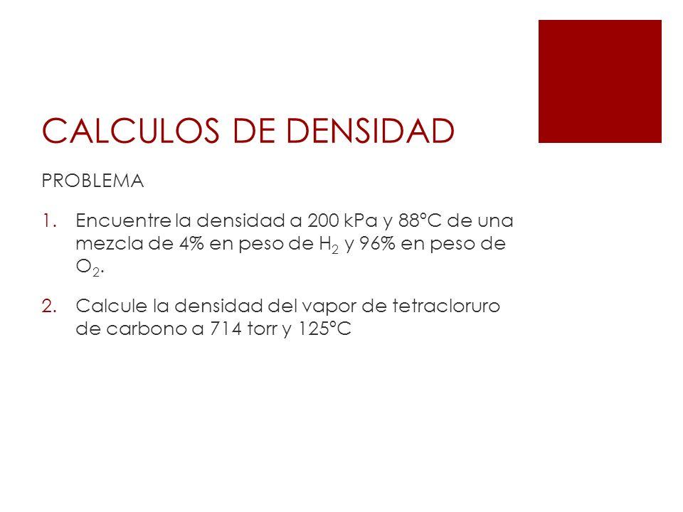 CALCULOS DE DENSIDAD PROBLEMA
