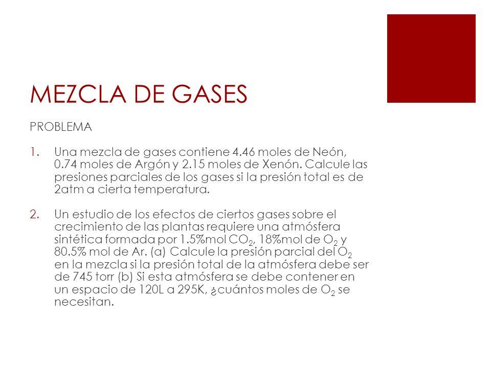 MEZCLA DE GASES PROBLEMA