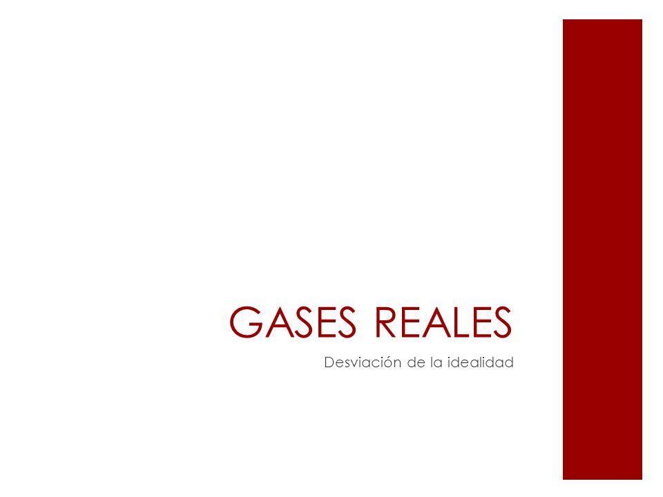 GASES REALES Desviación de la idealidad