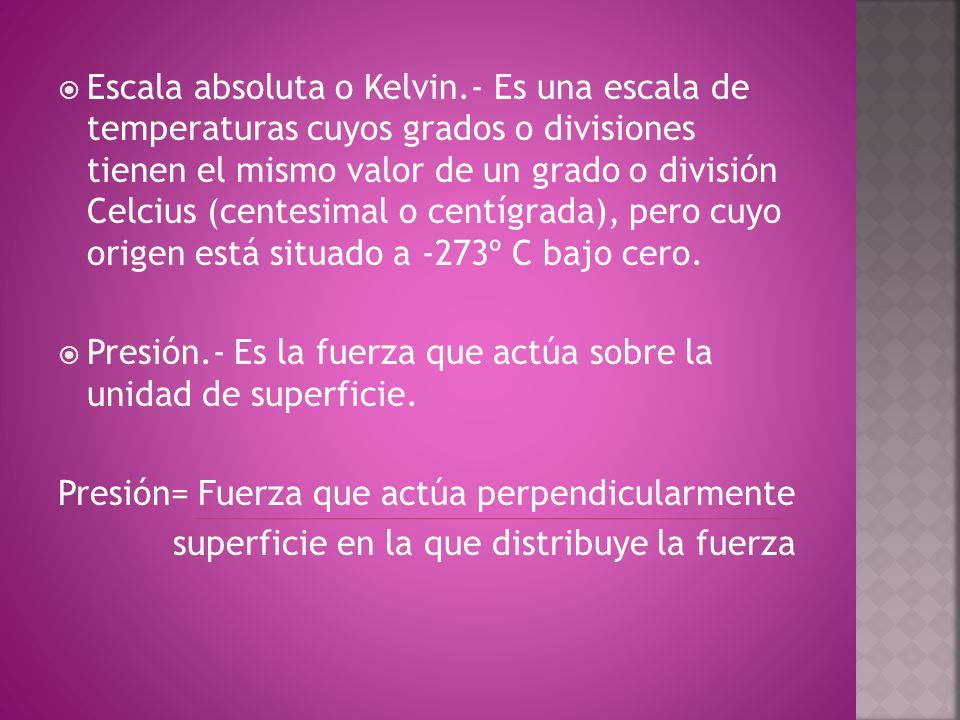 Escala absoluta o Kelvin
