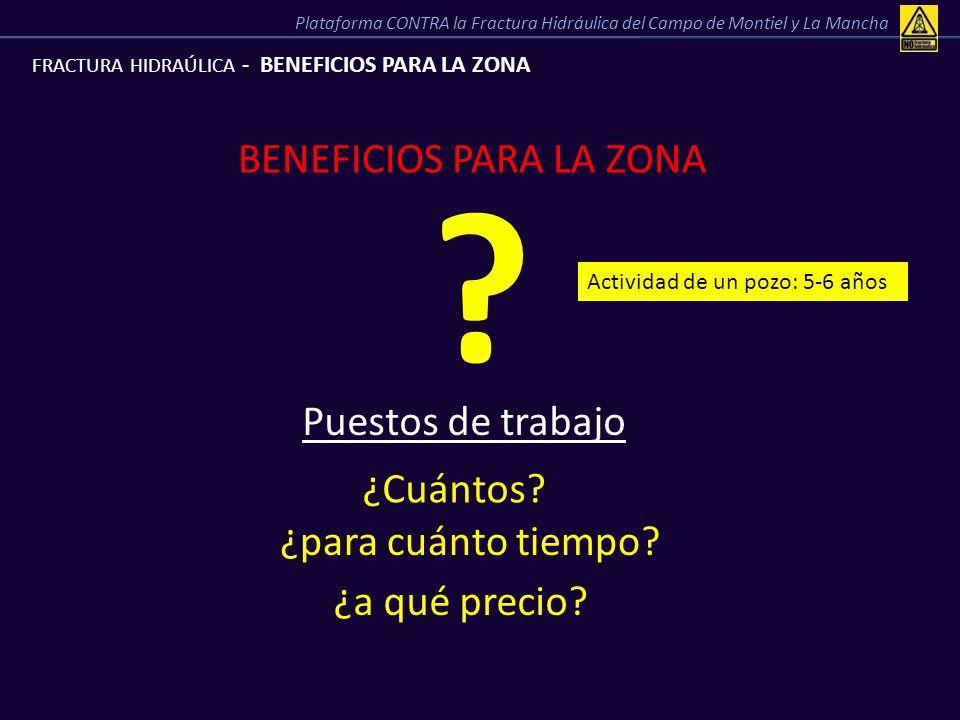 BENEFICIOS PARA LA ZONA