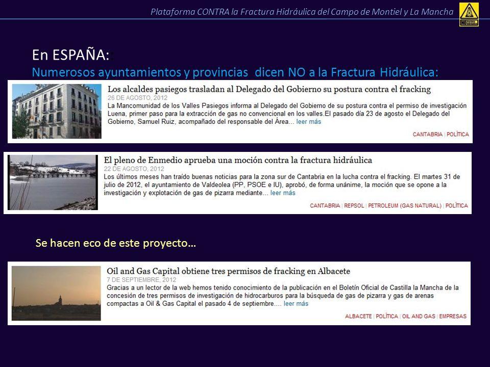 Plataforma CONTRA la Fractura Hidráulica del Campo de Montiel y La Mancha