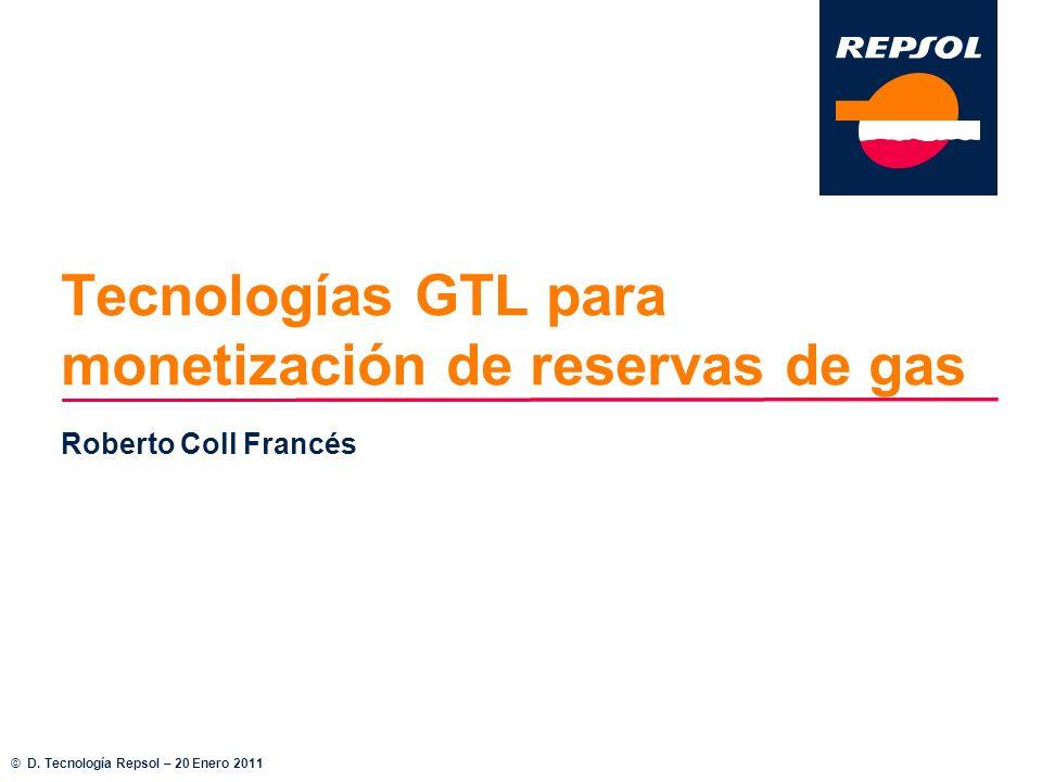 Tecnologías GTL para monetización de reservas de gas