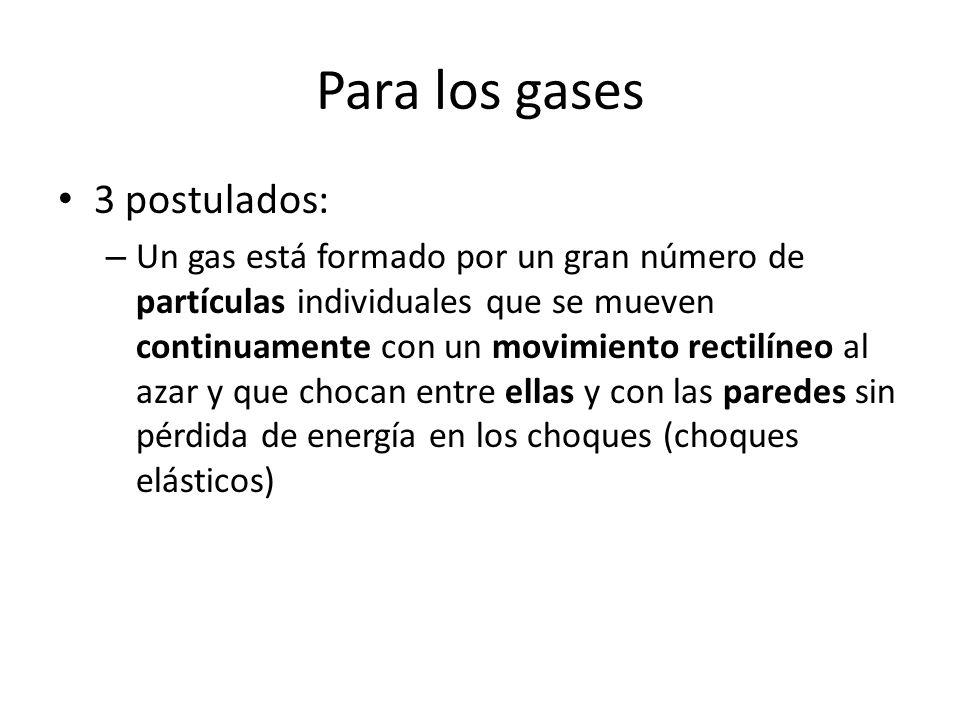 Para los gases 3 postulados: