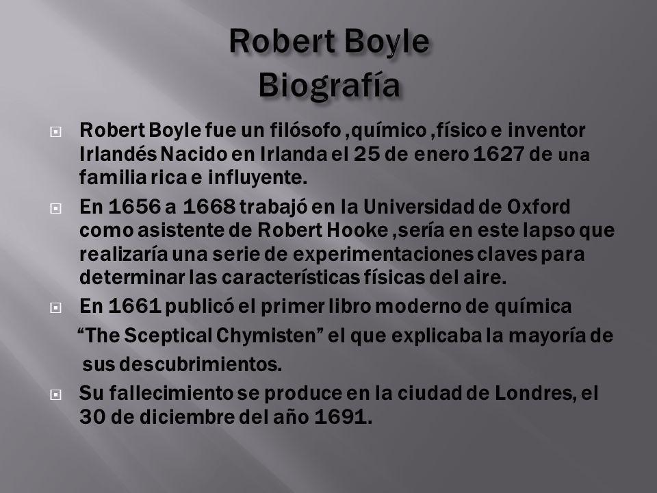 Robert Boyle Biografía