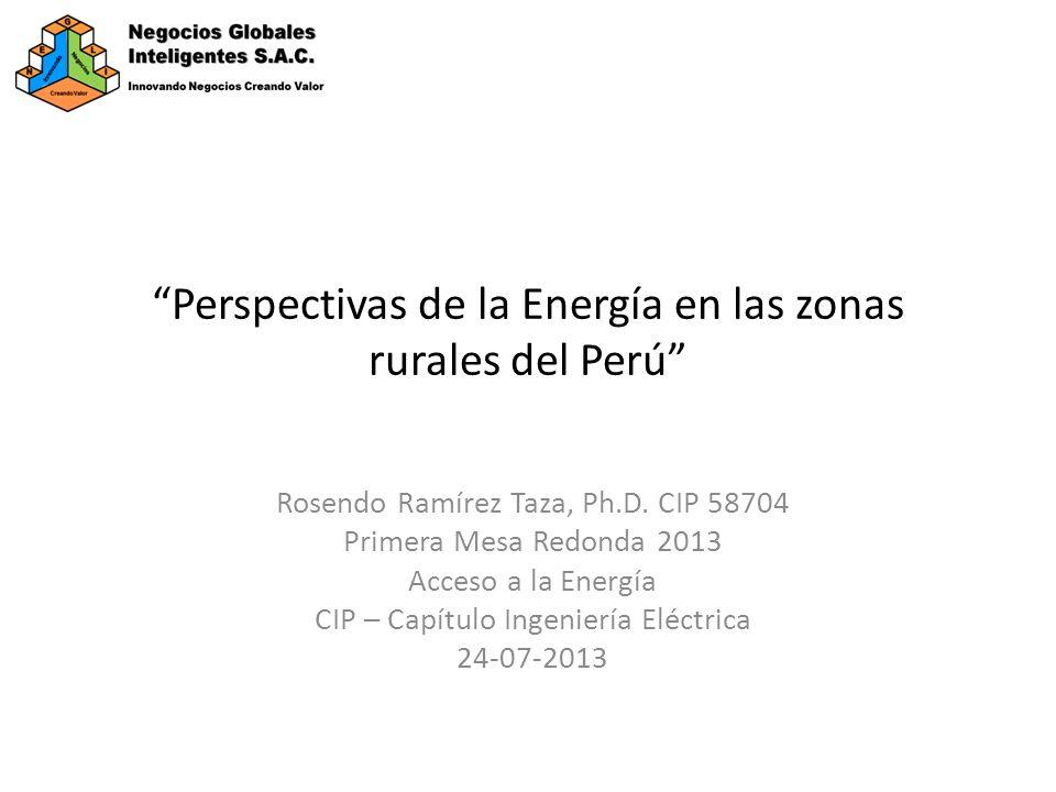 Perspectivas de la Energía en las zonas rurales del Perú