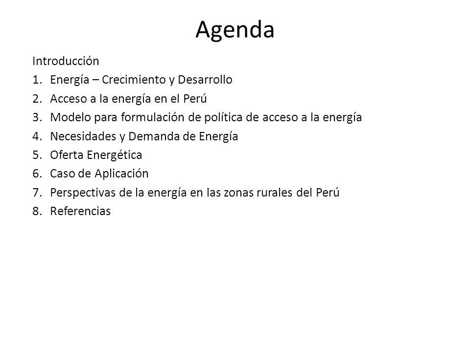 Agenda Introducción Energía – Crecimiento y Desarrollo