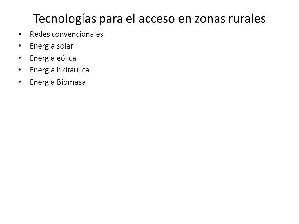 Tecnologías para el acceso en zonas rurales