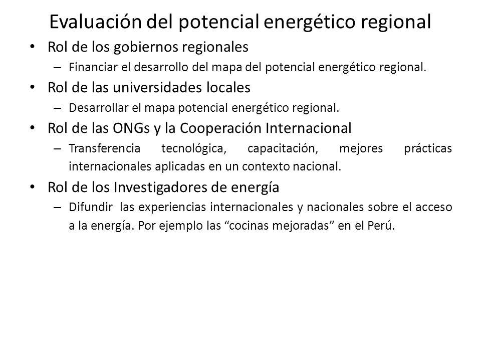 Evaluación del potencial energético regional
