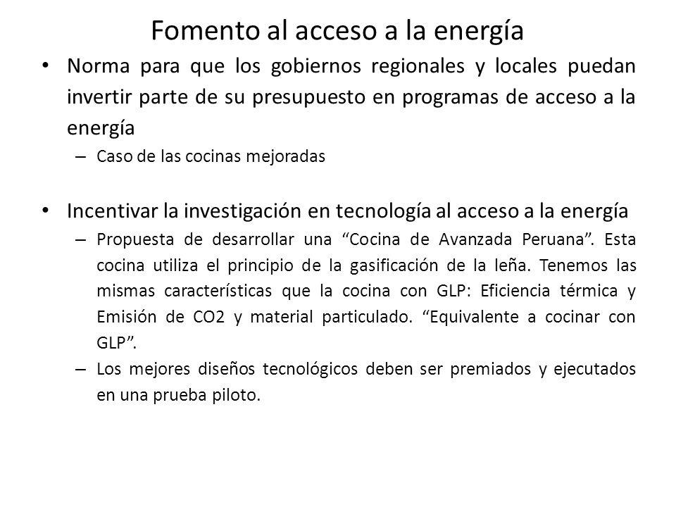 Fomento al acceso a la energía