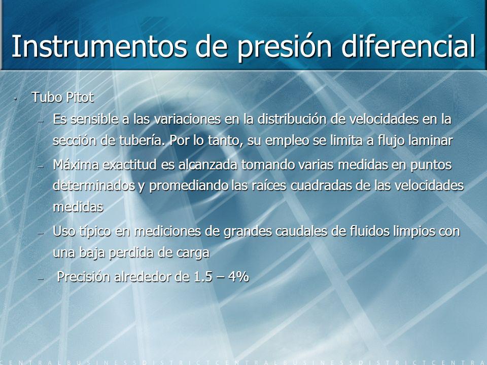 Instrumentos de presión diferencial
