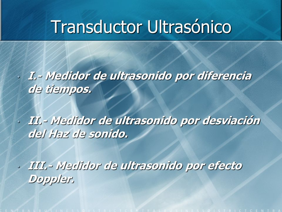 Transductor Ultrasónico