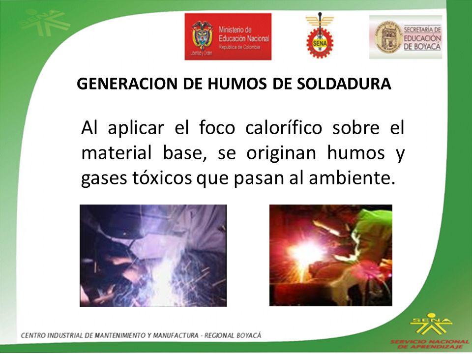 GENERACION DE HUMOS DE SOLDADURA