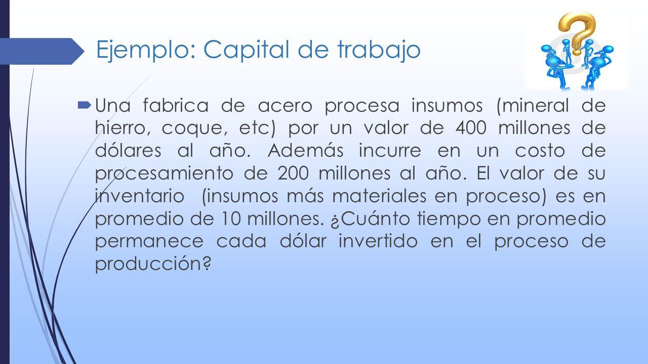 Ejemplo: Capital de trabajo