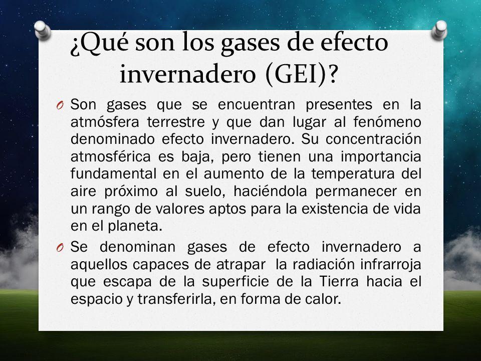 ¿Qué son los gases de efecto invernadero (GEI)