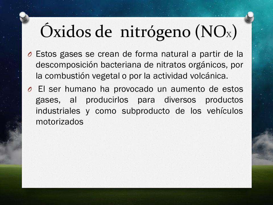 Óxidos de nitrógeno (NOX)