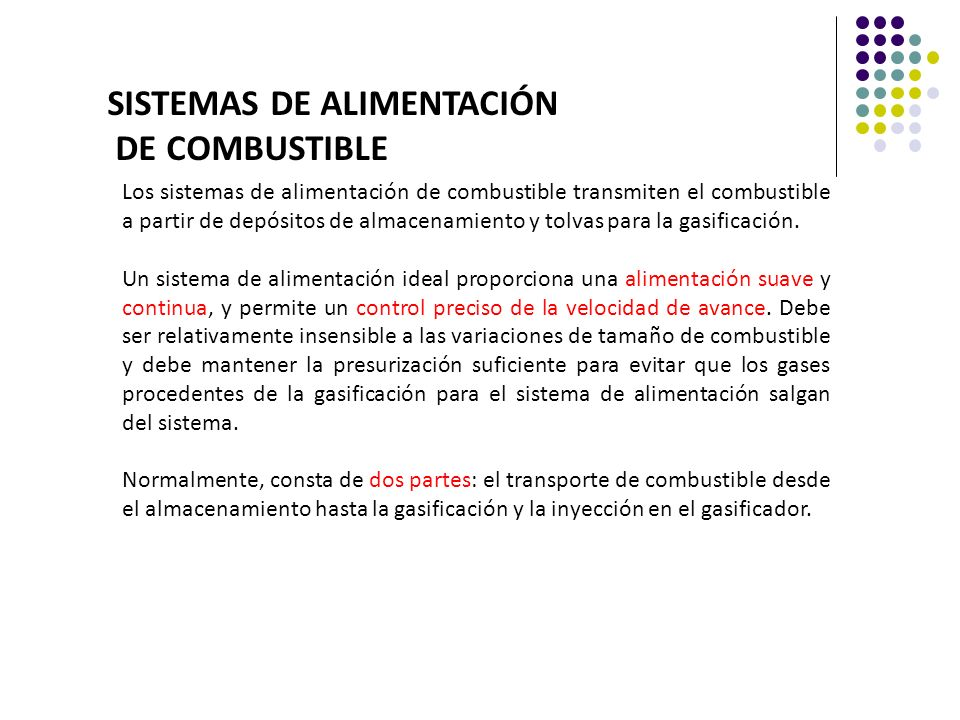 SISTEMAS DE ALIMENTACIÓN DE COMBUSTIBLE