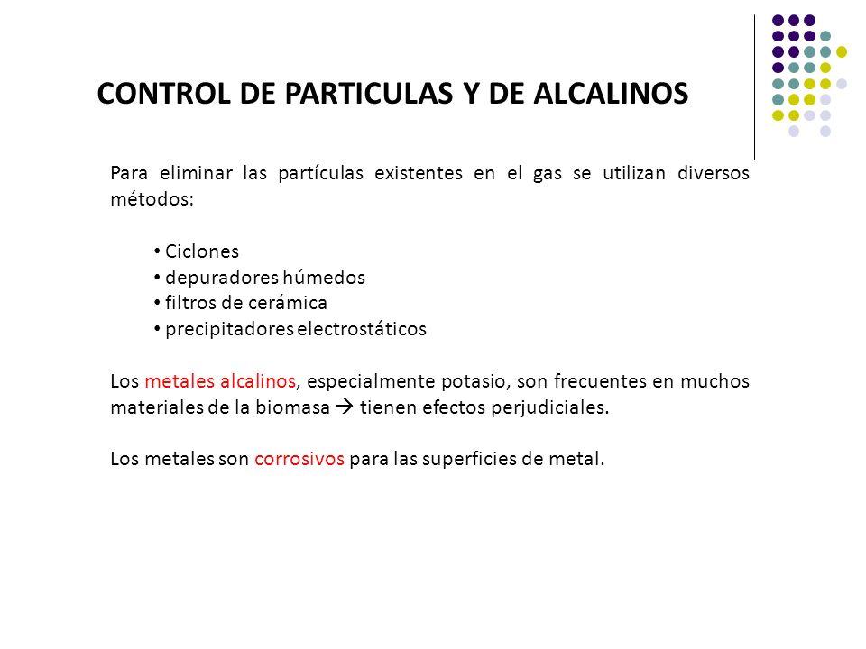 CONTROL DE PARTICULAS Y DE ALCALINOS