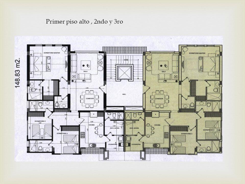 Primer piso alto , 2ndo y 3ro