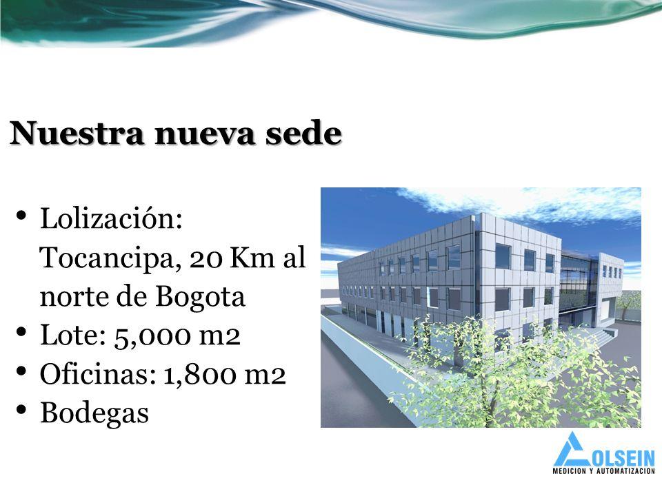 Nuestra nueva sede Lolización: Tocancipa, 20 Km al norte de Bogota