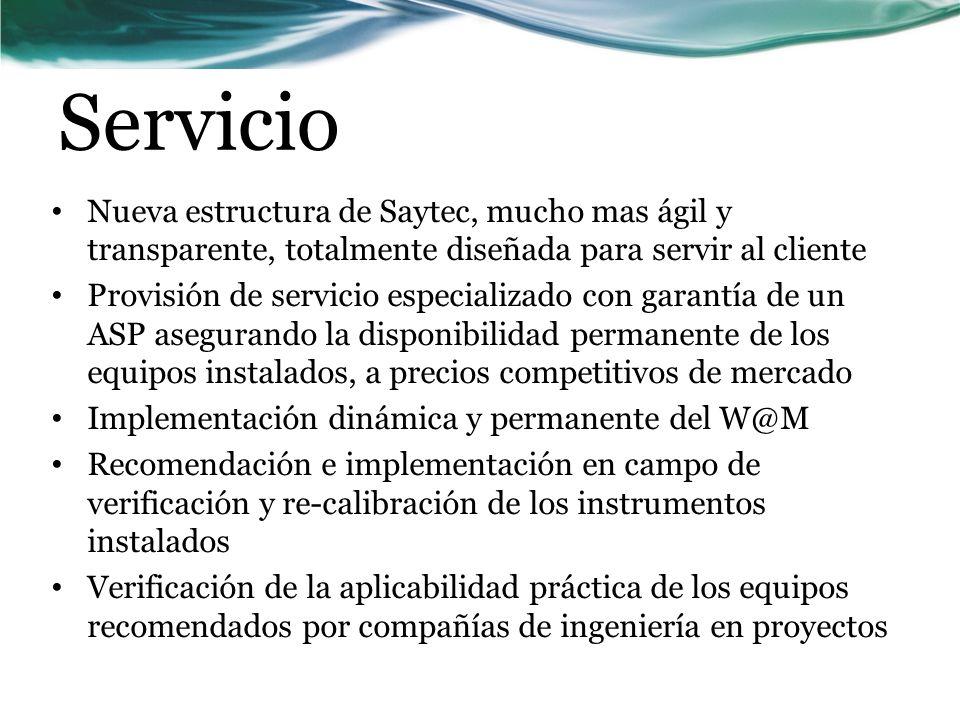 Servicio Nueva estructura de Saytec, mucho mas ágil y transparente, totalmente diseñada para servir al cliente.