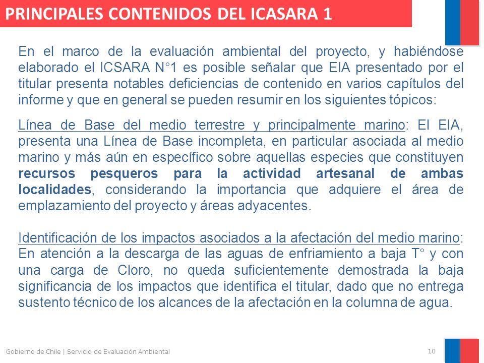 PRINCIPALES CONTENIDOS DEL ICASARA 1
