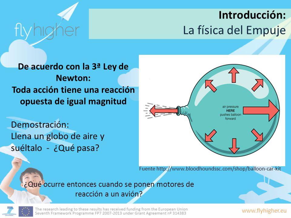 La física del Empuje Introducción: De acuerdo con la 3ª Ley de Newton: