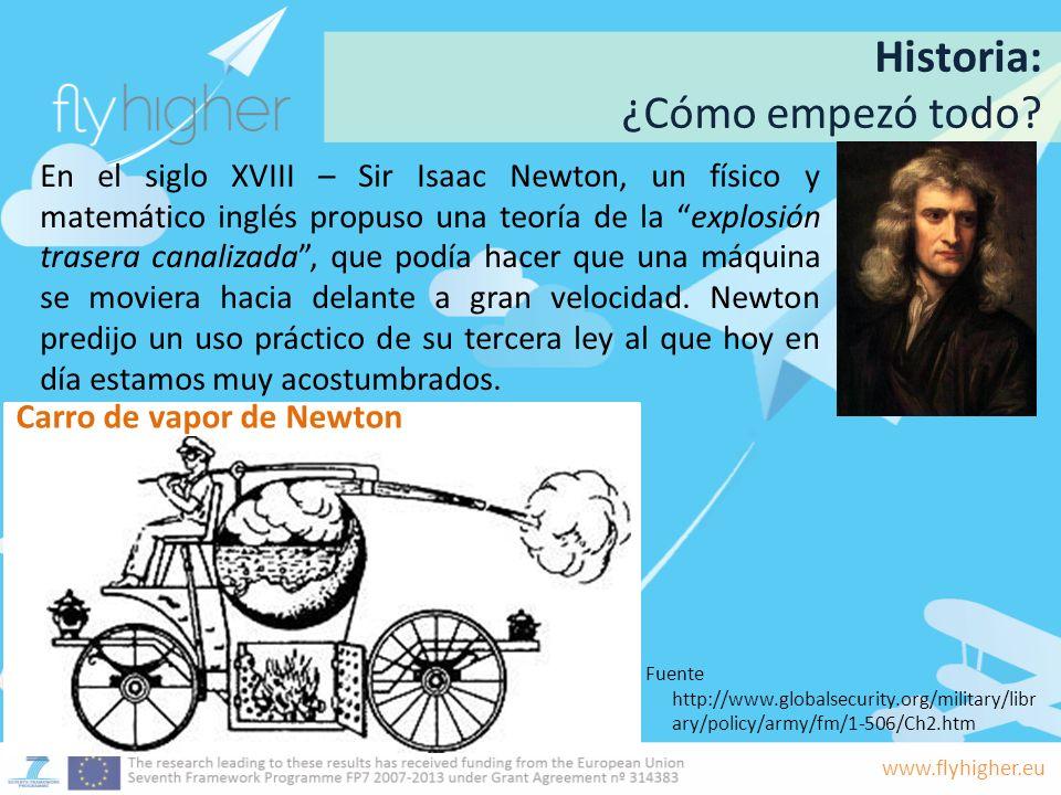 Historia: ¿Cómo empezó todo Carro de vapor de Newton