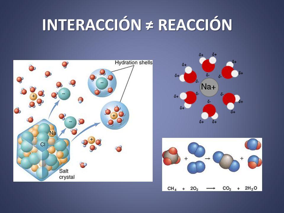 INTERACCIÓN ≠ REACCIÓN
