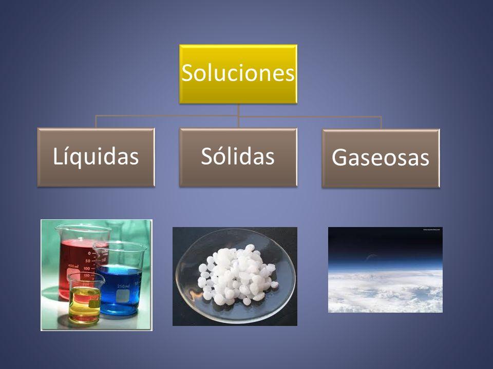 Soluciones Líquidas Sólidas Gaseosas